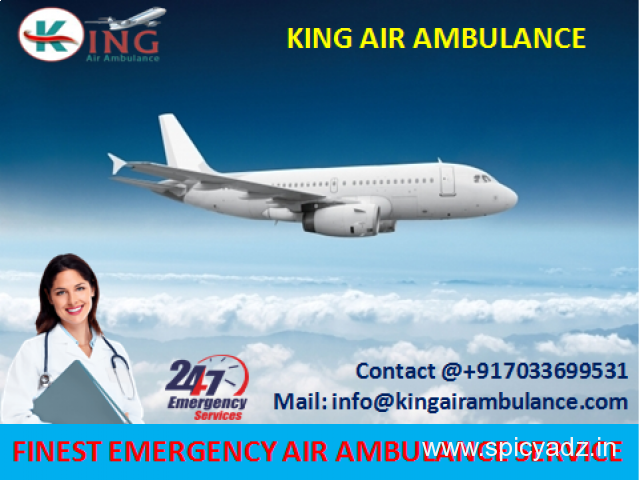 Get More Comfortable Air Ambulance from Jamshedpur to Delhi by King - 1