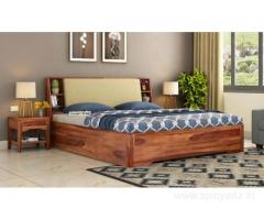 Discount of upto 55% off on double cots at Wooden Street