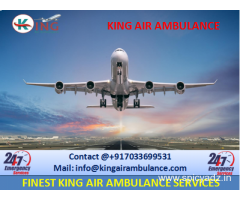 Pick Advanced King Emergency Air Ambulance from Dibrugarh to Delhi