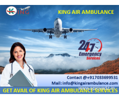 Book Hi-tech ICU Setup Air Ambulance from Bagdogra to Delhi by King