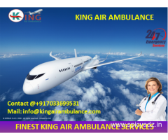 Pick Low Fare Air Ambulance from Siliguri to Delhi by King