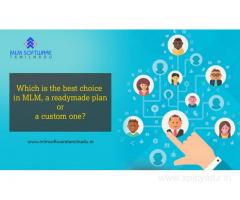 Which is the best choice in MLM, a readymade plan or a custom one?-MLM Software Tamilnadu