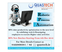 robotic process automation training institute | QUASTECH
