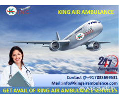 Book Top Class Emergency Air Ambulance in Guwahati by King