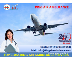 Get Commercial Air Ambulance in Bagdogra with Medical Team by King
