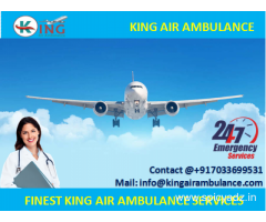 Get Best Emergency Air Ambulance in Varanasi at Low Cost by King