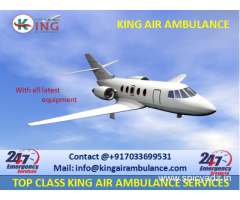 Cost of King Air Ambulance Services in Bhopal with Medical Team