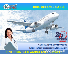 Take on Rent Best Air Ambulance Services in Raipur by King