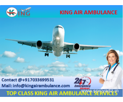 Book Low Fare Air Ambulance Services in Dibrugarh by King