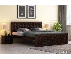 Sale of upto 55% off on double beds at Wooden Street
