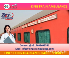 First-class Emergency Train Ambulance from Delhi by King