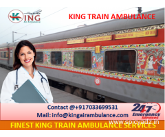 Take on Rent Best Train Ambulance from Patna with Doctor by King