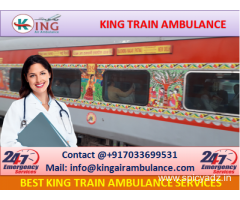 Get Complete ICU Facility King Train Ambulance from Kolkata