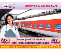 Book Finest Train Ambulance from Guwahati with Medical Team by King