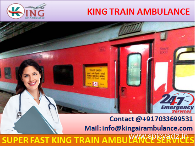 High-Class King Emergency Train Ambulance from Bangalore with Doctor - 1
