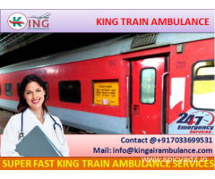 High-Class King Emergency Train Ambulance from Bangalore with Doctor