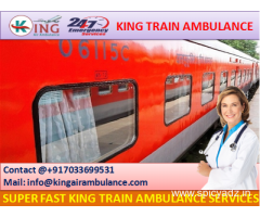 Finest King Emergency Train Ambulance from Dibrugarh with MD Doctor