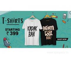 Buy Stylish & Trendy T-shirts For Mens Starting at just Rs.299 - Shutcone.com