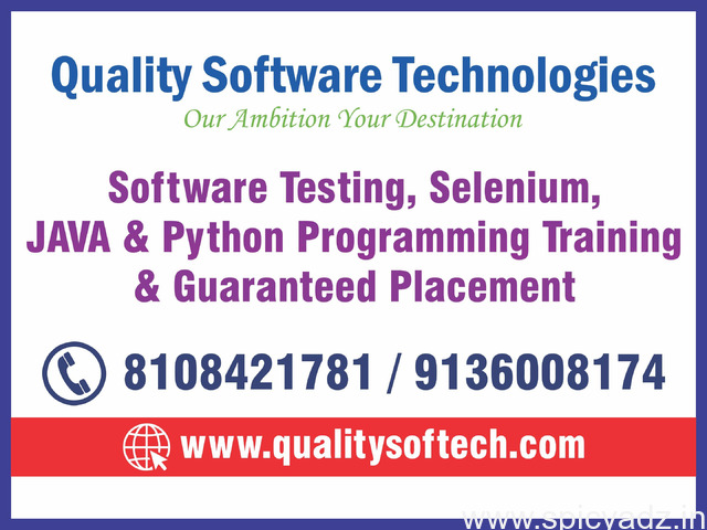 BEST PYTHON COURSES, TRAINING IN THANE – QUALITY SOFTWARE TECHNOLOGIES - 1