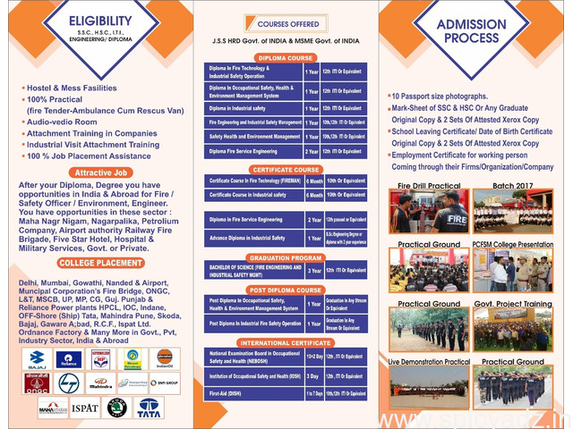 Admission open for Diploma in Industrial safety - 1