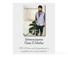 PDF Notes of Determinants Class 12 Maths