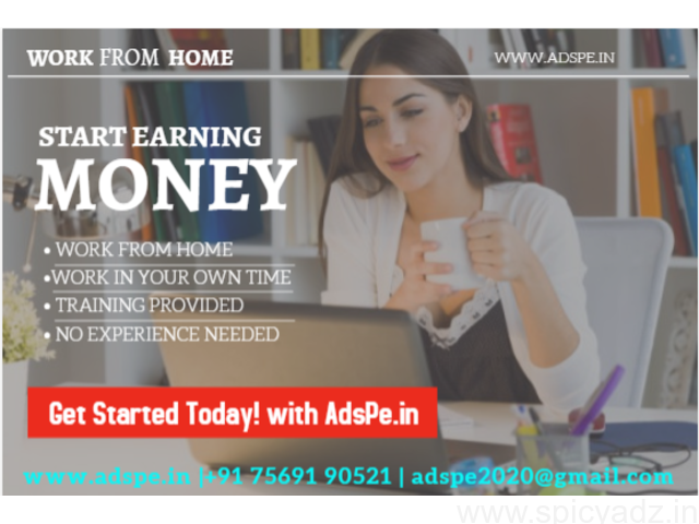 Real home bases job, Ad posting part time work earn daily and weekly basis - 1