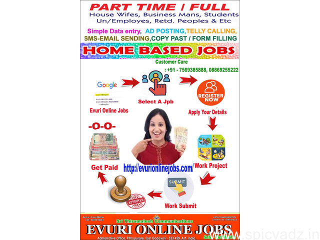 Home Based Data Entry Jobs, Part Time Jobs - 1