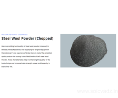 Get Steel Fibres, Steel Wool, Steel Wool Powder at very low cost