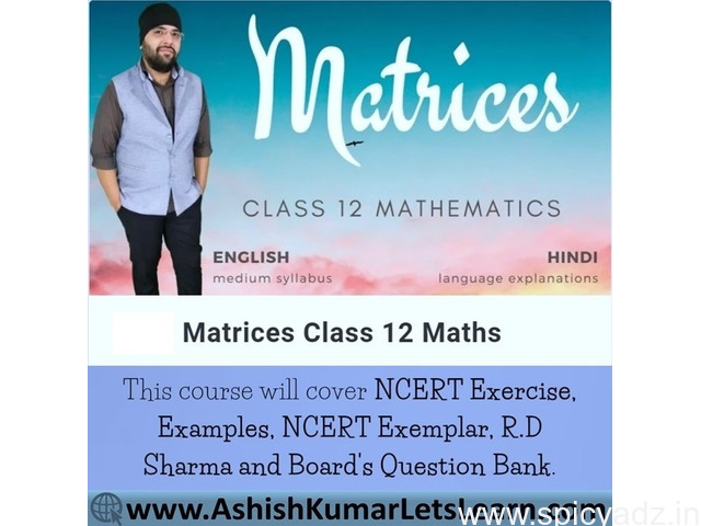 Online Course for Matrices Class 12 Maths - 1