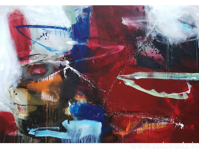 Original Hand painted Abstract Artwork Now at IndianArtZone - 1