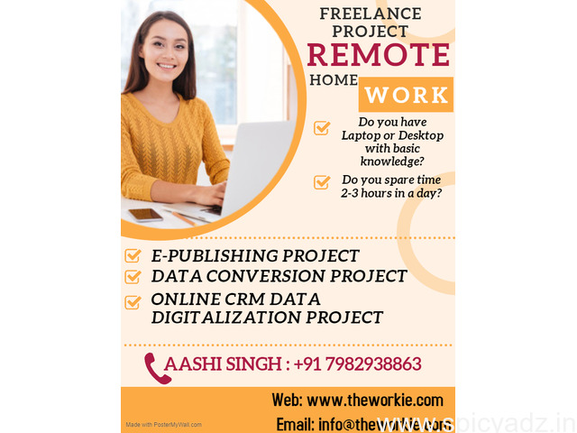 Grab Now! Limited Seats for Home Based Work - 1