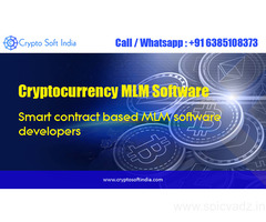 Cryptocurrency MLM Software and Smart contract based MLM System developers- crypto soft india
