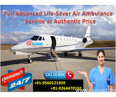 Medivic Aviation Air Ambulance in Ranchi at Low Price
