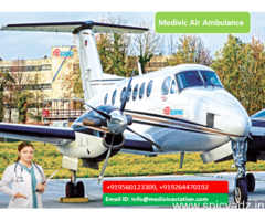 Get Low Cost Medivic Air Ambulance in Bangalore at Low Fare
