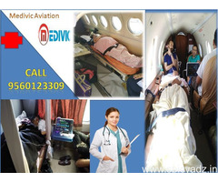 Now Best Air Ambulance in Guwahati-Medivic Aviation