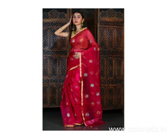 Pure Muslin Jamdani Sarees at a Wholesale Price Online
