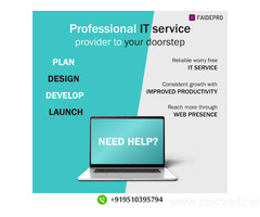 Build your online presence with FAIDEPRO's data and IT services.
