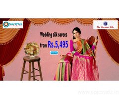 Wedding silk sarees from Rs.5,495