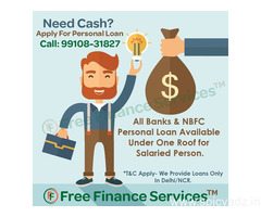 Salaried Personal Loan Provider in Delhi NCR With Fast Approval