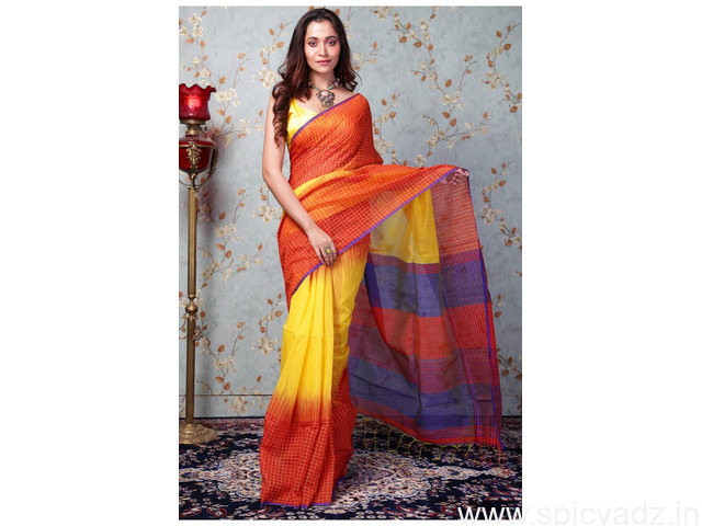 Shop cotton sarees online for your daily wear - 1