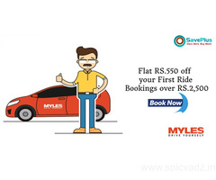 Flat RS.550 off your First Ride Bookings over RS.2,500