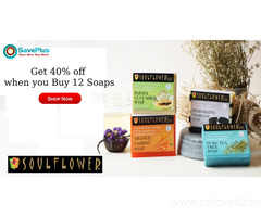 Get 40% off when you Buy 12 Soaps