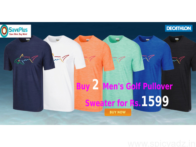 Buy 2 Men's Golf Pullover Sweater for Rs.1599 - 1