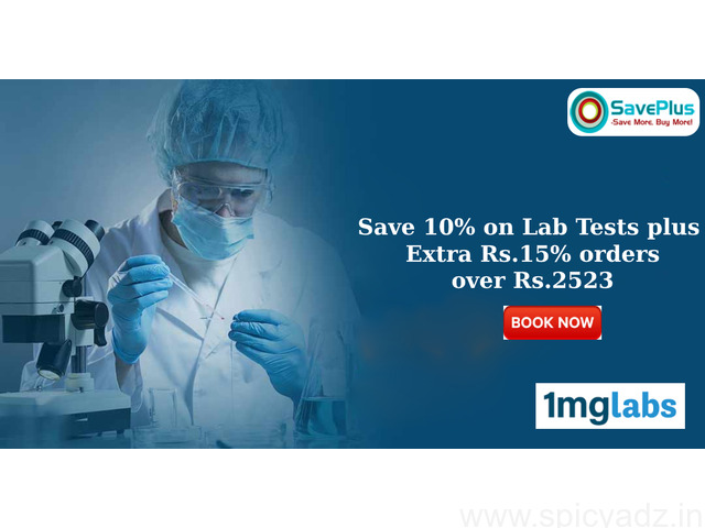 Save 10% on Lab Tests plus Extra Rs.15% orders over Rs.2523 - 1