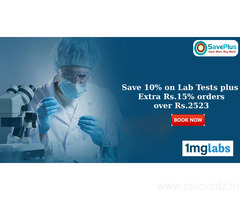 Save 10% on Lab Tests plus Extra Rs.15% orders over Rs.2523