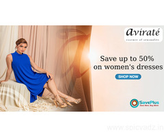 Save up to 50% on women's dresses
