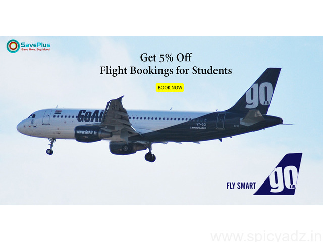 5% Off Flight Booking for Students - 1