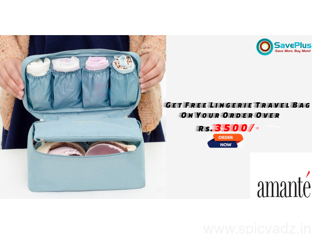 Amanté Coupons, Deals & Offers: Get Fee Lingerie Travel Bag on your order over Rs.3500/- - 1