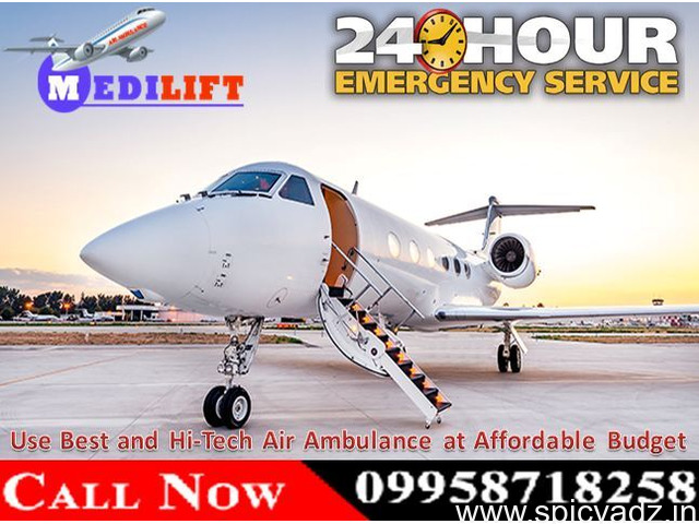 Safe Patient Transfer 24 Hours by Medilift Air Ambulance Services in Delhi - 1