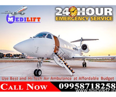 Safe Patient Transfer 24 Hours by Medilift Air Ambulance Services in Delhi